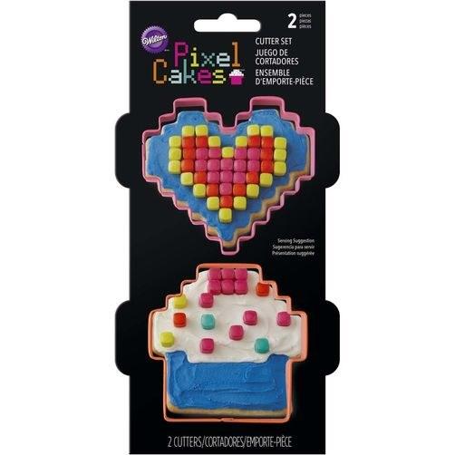 Wilton Pixel Cakes Cookie Cutter 2p