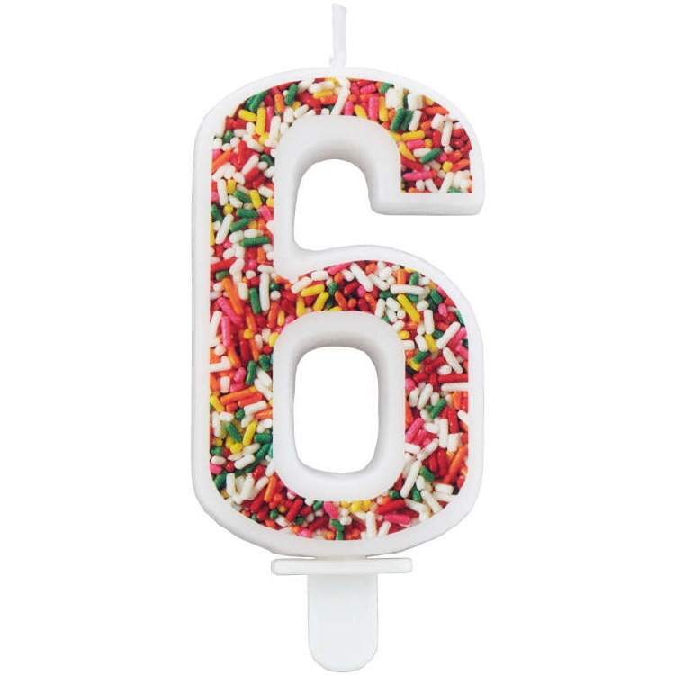 Number 6 Bday Candle
