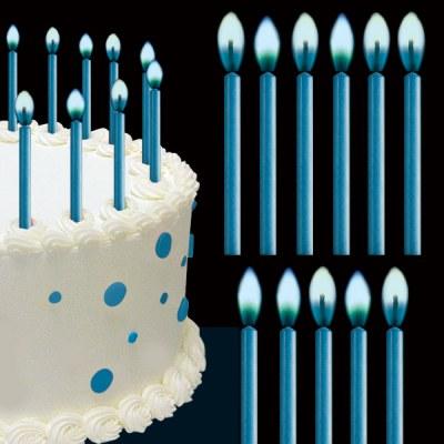 Wilton B Candles Color Flame-blue 12p
