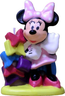 Wilton Minnie Mouse Candle