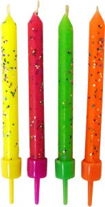 Wilton Candle: Hot Colors Glitter/10