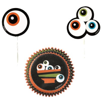 Wilton Ghoulish Theme Cupcake Combo P