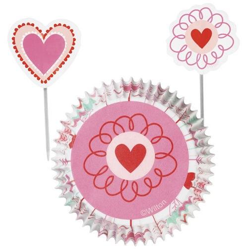 Wilton Heart/flower Combo Set 24 Pc