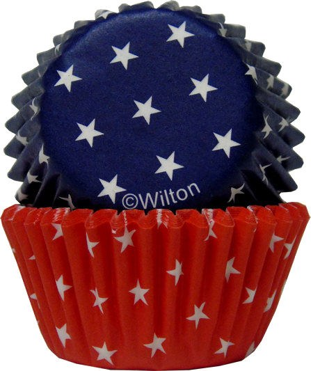 Wilton Red, Blue & White Mini Cup