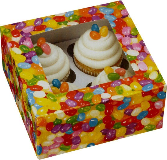 Wilton Jelly Bean Cupcake Box