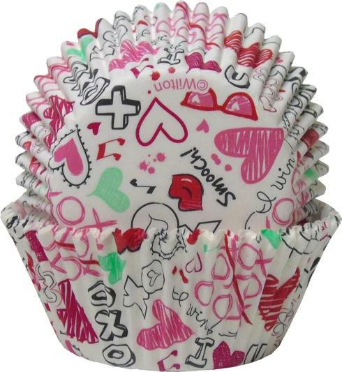 Valentine Graffiti Cupcake Cup
