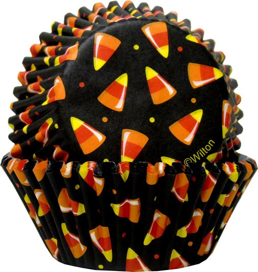 Wilton Baking Cups: Black With Candy