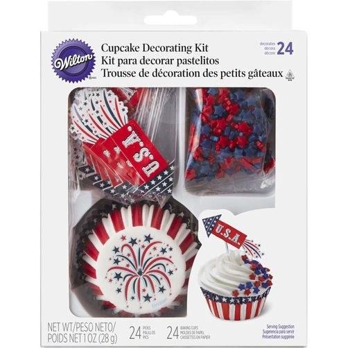 Wilton Cupcake Kit Usa 24/pkg