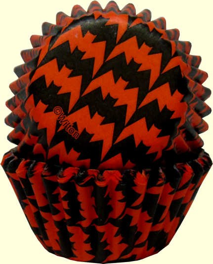 Wilton Orange & Black Bats Mini Cups/