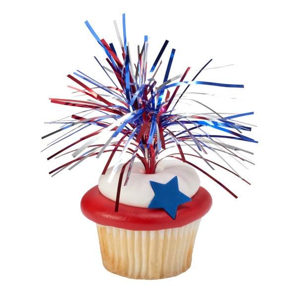 4th July Cupcake Topper 6 Pk