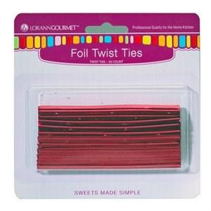 LorAnn Twist Ties: Red 50/pkg