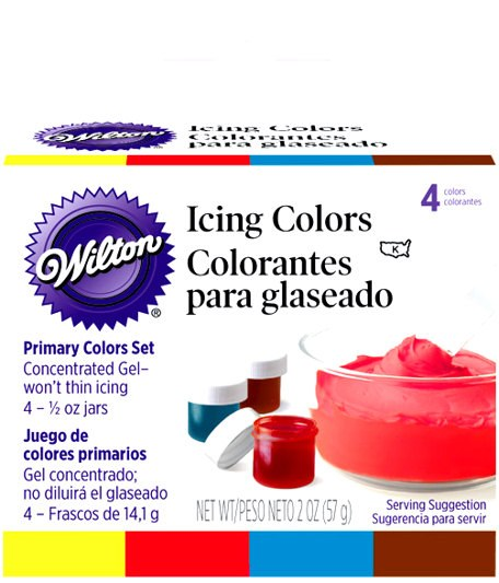 Wilton Primary 4-icing Color Set
