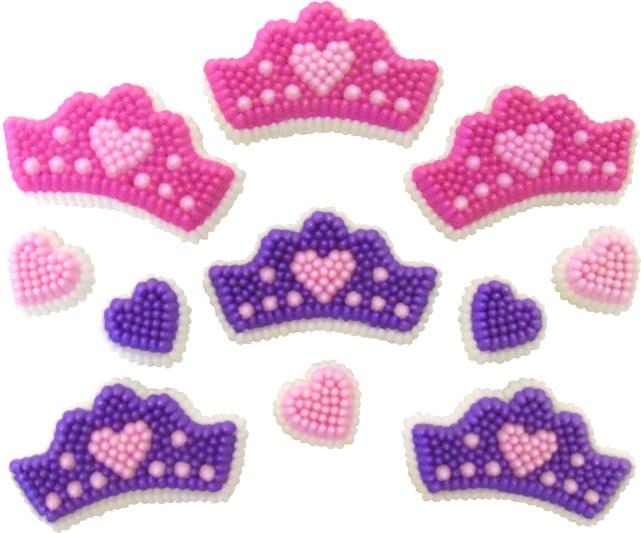 Wilton Crowns & Hearts Icing Decorati