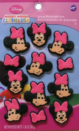 Wilton Minnie Mouse Icing Decorations