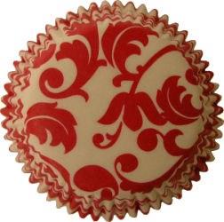 Amscan Mini Baking Cups: Red Damask/2