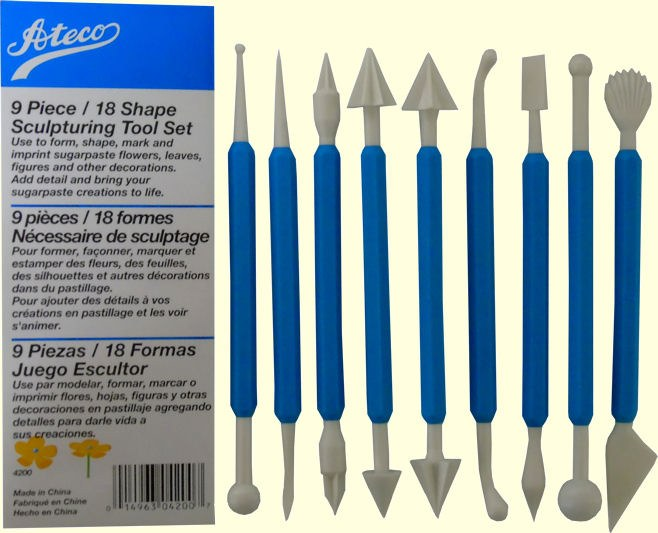 ATECO Ateco 9 Pc Sculpting Tool Set