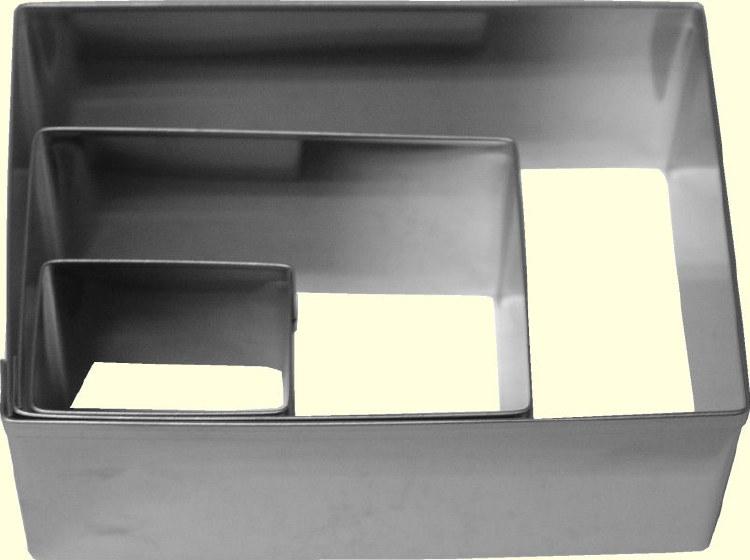 ATECO Rectangular Cutters/3 Pc Set