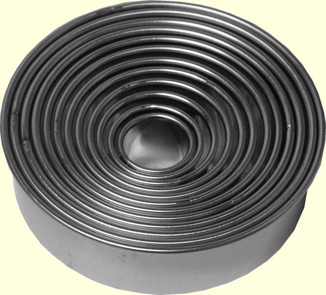 ATECO Round Cutters Plain 12 Pc Set