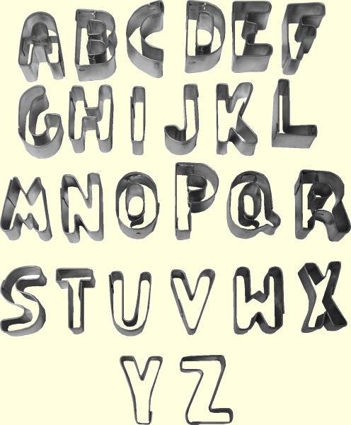 ATECO Alphabet Cutter Set A To Z