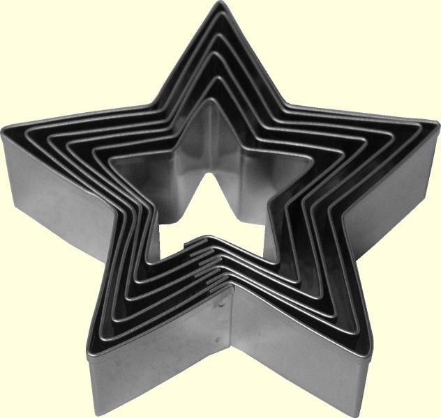ATECO Star Cutters Plain 6 Pc Set