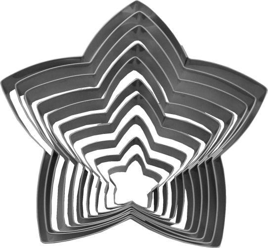 ATECO 10 Pc Nesting Star Metal Cutte