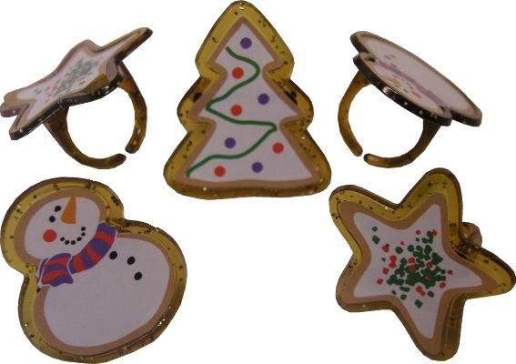 Cookie Glitter Rings