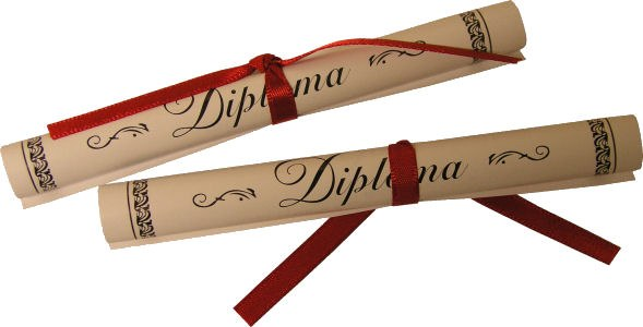 Paper Diplomas/2 Per Pkg