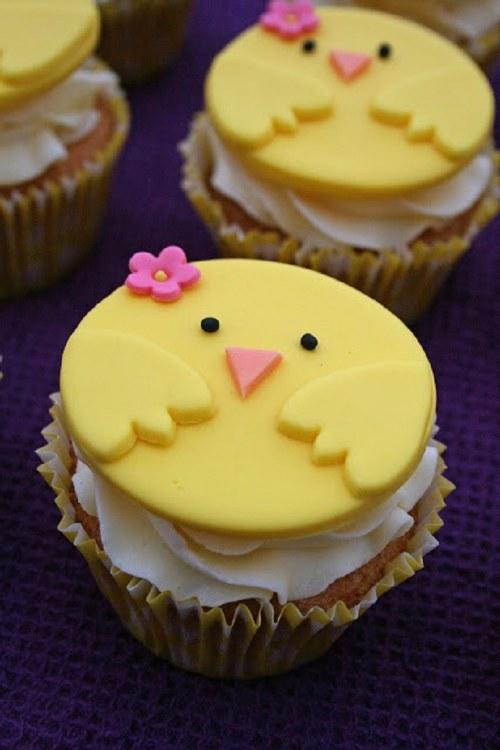 Fondant Chick Cupcakes