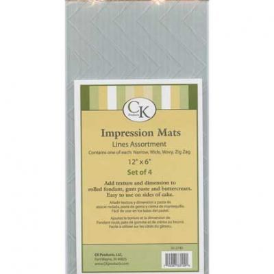 CK Product Impression Mats 12x6 4pc Lines