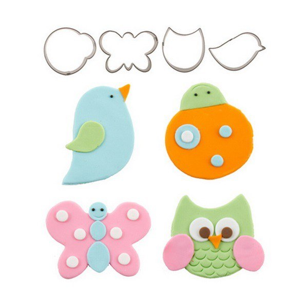 CK Product Cutie Cupcake Cutters Set 4 Pc