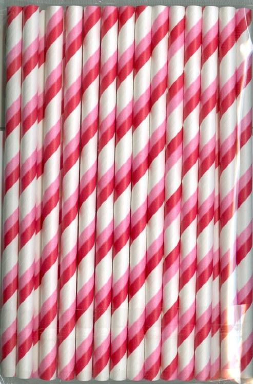 CK Product Pop Sticks/straws: Red & Pink