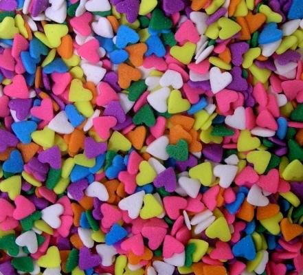 Confetti: Hearts (pastel) 3 Oz