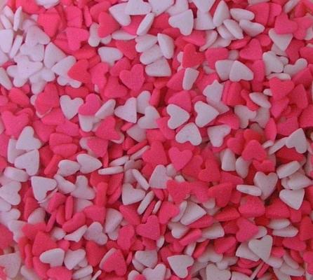 Confetti: Hearts (pink&white)