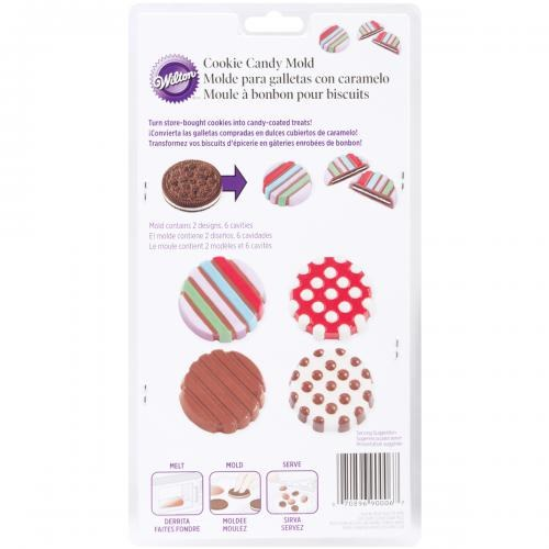 Wilton Dots-stripes Cookie Candy Mold