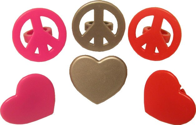 Peace Signs & Heart Rings