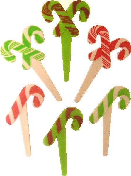 Candy Cane Picks