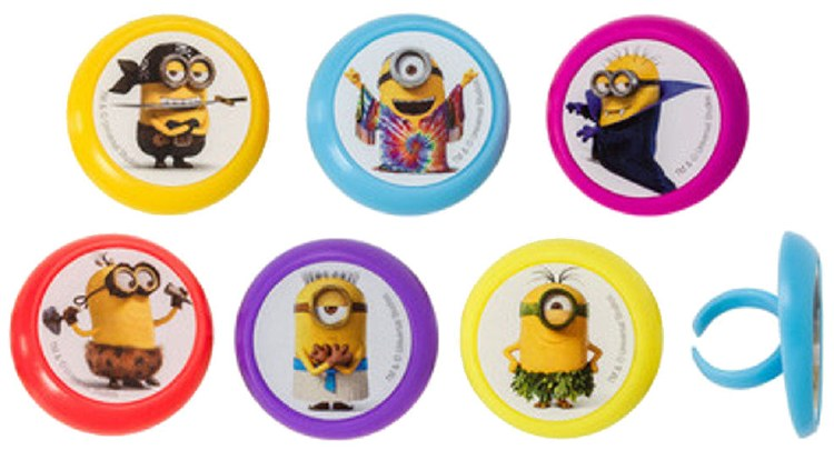 Evolution Minion Cupcake Rings