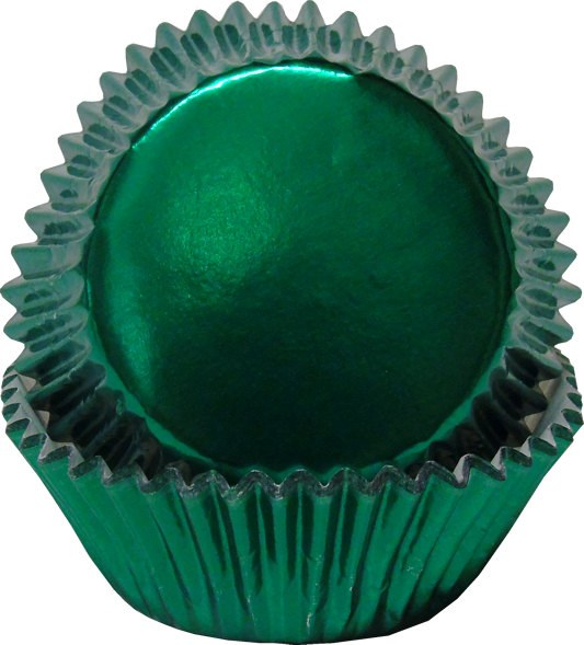 FOX RUN Green Foil Bake Cups