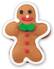 2pc Gingerbread Sugar Deco