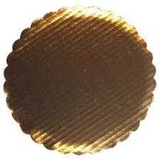Gold Board 12' Scalloped 6/pkg