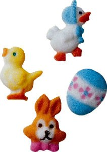 Sugar Decorations: Easter Char