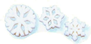 Sugar Decorations: Snowflake A