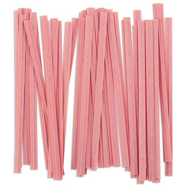 Twist Ties:  Pink/100 Pkg