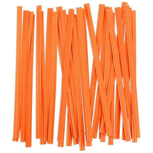 Twist Ties: Orange/100 Pkg