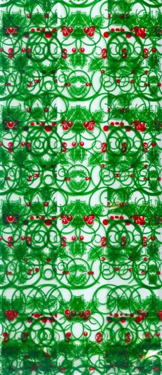 Holly Swirl Cellophane Bags/15