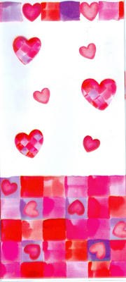 Water Color Hearts Party Bags