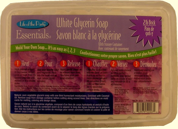 Life of the Party 2 Lb Melt & Pour White Soap