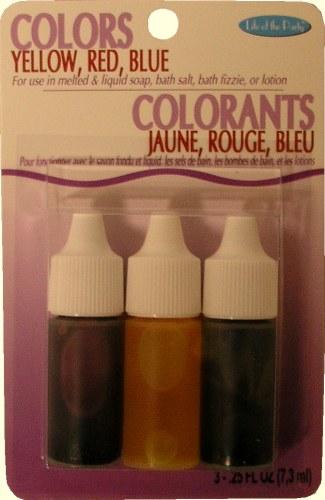 Soap Dye Kit: Red/blue/yellow
