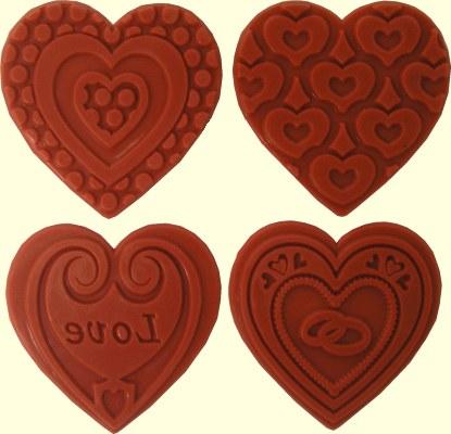 Heart Love Theme Embossing Sta