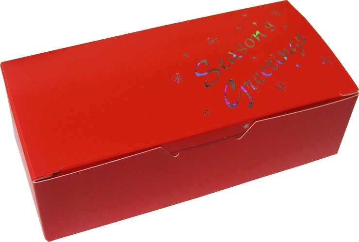 1 Lb Red Seasons Greetings Box